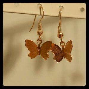 Homeaid rose gold butterfly earrings!!!